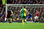 Norwich's Cameron Jerome scores the opening goal - Manchester United vs Norwich City - Barclays Premier League - Old Trafford - Manchester - 19/12/2015 Pic Philip Oldham/SportImage