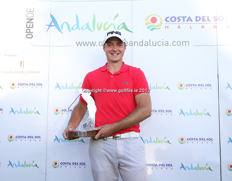 Julien Quesne (FRA) on winning the 2012 Open de Andalucia Costa del Sol at Aloha Golf Club, Marbella, Spain...(Photo Jenny Matthews/www.golffile.ie)