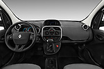 Stock photo of straight dashboard view of a 2018 Renault Kangoo ZE Maxi ZE 2 places 4 Door Car van