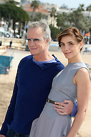 Clotilde Courau, Christophe Lambert attend the 50th MipTV - Cannes