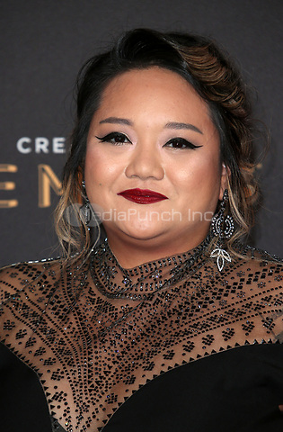 LOS ANGELES, CA - SEPTEMBER 09: Monica Soto at the 2017 Creative Arts Emmy Awards at Microsoft Theater on September 9, 2017 in Los Angeles, California. Credit: Faye Sadou/MediaPunch