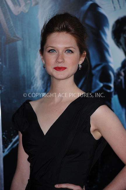 WWW.ACEPIXS.COM . . . . .  ....July 9 2009, New York City....Bonnie Wright at the New York premiere of 'Harry Potter and the Half-Blood Prince' at Ziegfeld Theatre on July 9, 2009 in New York City....Please byline: KRISTIN CALLAHAN - ACE PICTURES.... *** ***..Ace Pictures, Inc:  ..tel: (212) 243 8787 or (646) 769 0430..e-mail: info@acepixs.com..web: http://www.acepixs.com