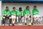 29.07.2017, Heinz-Dettmer-Stadion, Lohne, GER, FSP, SV Werder Bremen vs West Ham United<br /> <br /> im Bild<br /> Ersatzbank, Jaroslav Drobny (Werder Bremen #33), Johannes Eggestein (Werder Bremen #24), Ulisses Alexandre Garcia (Werder Bremen #20), Jesper Verlaat (Werder Bremen #28), Niklas Schmidt (Werder Bremen #38), <br /> <br /> Foto © nordphoto / Ewert