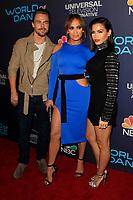 """LOS ANGELES - SEP 19:  Derek Hough, Jennifer Lopez, Jenna Dewan Tatum at the """"World of Dance"""" Celebration at the Delilah on September 19, 2017 in West Hollywood, CA"""
