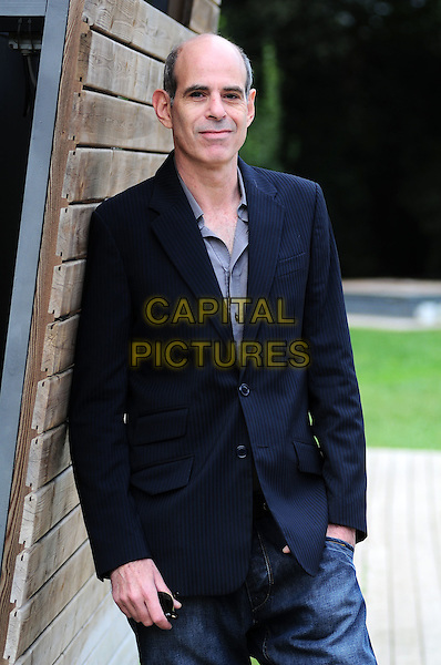 "SAMUEL MAOZ.Photocall for ""Lebanon"", Casa del Cinema, Rome, Italy..October 14th, 2009.half length blue pinstripe suit jacket hand in pocket.CAP/CAV.©Luca Cavallari/Capital Pictures."