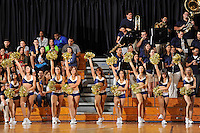 21 January 2012:  FIU's Golden Dazzlers and band, the Courtside Players, entertain the crowd during a break in the action in the second half as the Florida Atlantic University Owls defeated the FIU Golden Panthers, 66-64, at the U.S. Century Bank Arena in Miami, Florida.