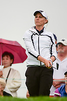 Ryann O'Toole (USA) watches her tee shot on 16 during Friday's second round of the 72nd U.S. Women's Open Championship, at Trump National Golf Club, Bedminster, New Jersey. 7/14/2017.<br /> Picture: Golffile | Ken Murray<br /> <br /> <br /> All photo usage must carry mandatory copyright credit (&copy; Golffile | Ken Murray)