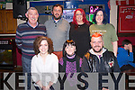 Pictured at the Irish Cancer Society Shave or Dye night in Jades Bar, Killarney on Friday night were Linda O'Neill, Julie Healy, Mike Gallagher, Tim O'keeffe, Declan Raggett, Tracey Lyne and Breda Daly Kelleher. ....