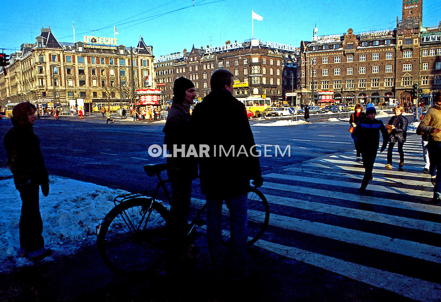 Cidade de Copenhague. Dinamarca. 1985. Foto de Juca Martins.
