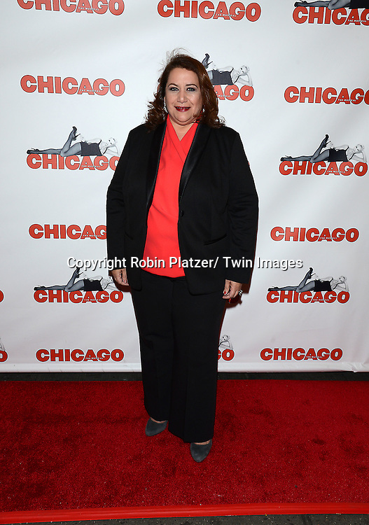 "NYC Commissioner of Media and Entertaqinment  Cynthia Lopez attends ""Chicago""  becoming the 2nd Longest Running Show on Broadway at performance 7486 on November 23, 2014 at the Ambassodor Theatre in New York City."