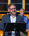 Jesse Marcus, senior programs manager Propane Education &amp; Research Council<br /> speaks at the PERC Adopt a Classroom event at Lemmon Valley Elementary School on Tuesday, September 27, 2016