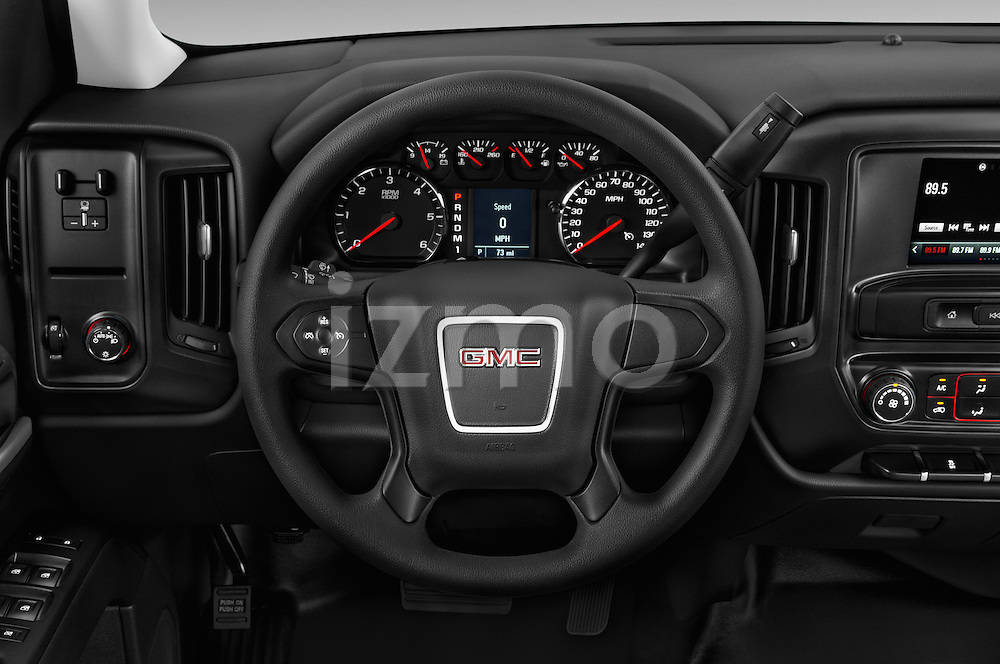 Car pictures of steering wheel view of a 2016 GMC Sierra-2500HD 2WD-Double-Cab-Long-Box 4 Door Pick-up Steering Wheel