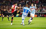Nederland, Rotterdam, 15 september 2012.Eredivisie.Seizoen 2012-2013.Feyenoord-PEC Zwolle.Graziano Pelle van Feyenoord schiet (via de schoen van Joost Broerse (r.) van PEC Zwolle) de 1-0 binnen