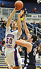 Matthew Boranian #50 of South Side, left, looks to get a shot past Zach Bromfeld #33 of Hewlett during the Nassau County varsity boys basketball Class A semifinals at Hofstra University on Wednesday, Feb. 24, 2016. South Side won by a score of 48-47.