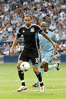San Jose defender Ramiro Corrales (12) in action... Sporting Kansas City defeated San Jose Earthquakes 2-1 at LIVESTRONG Sporting Park, Kansas City, Kansas.