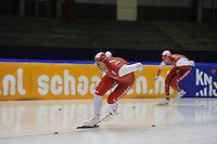 SCHAATSEN: HEERENVEEN: 25-10-2014, IJsstadion Thialf, Trainingswedstrijd schaatsen, Jan Blokhuijsen, ©foto Martin de Jong
