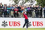 Edoardo Molinari of Italy tees off during the day three of UBS Hong Kong Open 2017 at the Hong Kong Golf Club on 25 November 2017, in Hong Kong, Hong Kong. Photo by Yu Chun Christopher Wong / Power Sport Images