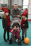 Alex, Mick, Ella May and Aine Sheehan at the Drogheda Motor Show...(Photo credit should read Jenny Matthews www.newsfile.ie)....This Picture has been sent you under the condtions enclosed by:.Newsfile Ltd..The Studio,.Millmount Abbey,.Drogheda,.Co Meath..Ireland..Tel: +353(0)41-9871240.Fax: +353(0)41-9871260.GSM: +353(0)86-2500958.email: pictures@newsfile.ie.www.newsfile.ie.