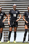 21 August 2016: Central Florida's Amanda Wilkin. The Duke University Blue Devils played the University of Central Florida Knights in a 2016 NCAA Division I Women's Soccer match. Duke won the game 3-1.
