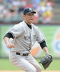 Hiroki Kuroda (Yankees),<br /> JULY 25, 2013 - MLB :<br /> Pitcher Hiroki Kuroda of the New York Yankees during the Major League Baseball game against the Texas Rangers at Rangers Ballpark in Arlington in Arlington, Texas, United States. (Photo by AFLO)