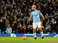 Manchester City's Sergio Aguero<br /> <br /> Photographer Rich Linley/CameraSport<br /> <br /> UEFA Champions League Round of 16 Second Leg - Manchester City v FC Schalke 04 - Tuesday 12th March 2019 - The Etihad - Manchester<br />  <br /> World Copyright © 2018 CameraSport. All rights reserved. 43 Linden Ave. Countesthorpe. Leicester. England. LE8 5PG - Tel: +44 (0) 116 277 4147 - admin@camerasport.com - www.camerasport.com