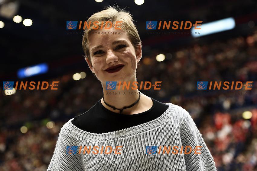 Milano 27/10/2016 - basket Eurolega / EA7 Milano - Real Madrid / foto Daniele Buffa/Image Sport/Insidefoto<br /> nella foto: Bebe Vio
