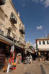 Jerusalem, Israel, the Old City By Jaffa Gate, Omar Ben El Katab square<br />