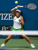 Ai Sugiyama (JPN) against Samantha Stosur (AUS) (15) . Stosur beat Sugiyama 6-4 4-6 6-4..International Tennis - US Open - Day 1 Mon 31 Aug 2009 - USTA Billie Jean King National Tennis Center - Flushing - New York - USA ..Frey,  Advantage Media Network, Barry House, 20-22 Worple Road, London, SW19 4DH