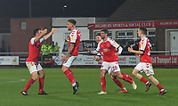 Fleetwood Town Eastham celebrate the winning goal<br /> <br /> Photographer Dave Howarth/CameraSport<br /> <br /> The EFL Sky Bet League One - Fleetwood Town v Sunderland - Tuesday 30th April 2019 - Highbury Stadium - Fleetwood<br /> <br /> World Copyright © 2019 CameraSport. All rights reserved. 43 Linden Ave. Countesthorpe. Leicester. England. LE8 5PG - Tel: +44 (0) 116 277 4147 - admin@camerasport.com - www.camerasport.com