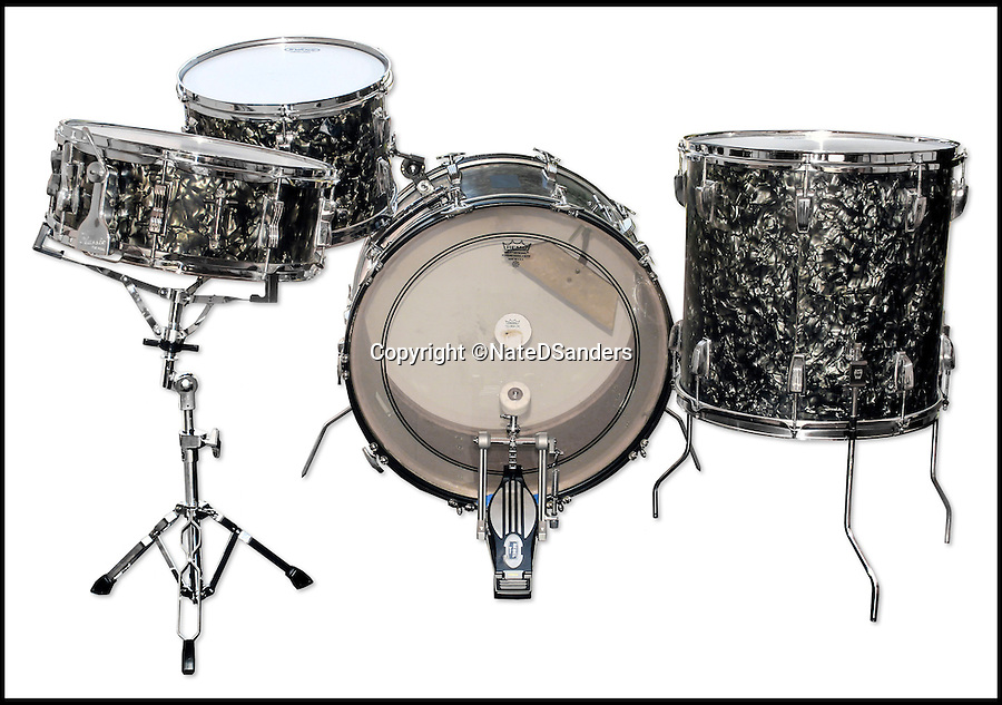 BNPS.co.uk (01202 558833)<br /> Pic: NateDSanders/BNPS<br /> <br /> The drum kit used on the Beatles' first single 'Love Me Do' has emerged for sale for the first time for &pound;200,000.<br /> <br /> The Ludwig instrument was used by veteran session drummer, Andy White, during a three hour session at EMI Studios at Abbey Road in 1962.<br /> <br /> It is being sold by LA-based auctioneers, Nate D Sanders.