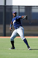 Milwaukee Brewers minor league outfielder Victor Roache #28 during an instructional league game against the Cincinnati Reds at Maryvale Baseball Park on October 3, 2012 in Phoenix, Arizona.  (Mike Janes/Four Seam Images)