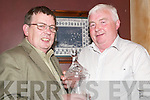 Honour: At a presentation evening held in McMunn's, Ballybunion, on Friday night was outgoing vice chairman of the North Kerry Football Board, Tom O'Sullivan, with Aiden Galvin, of the finance committee..