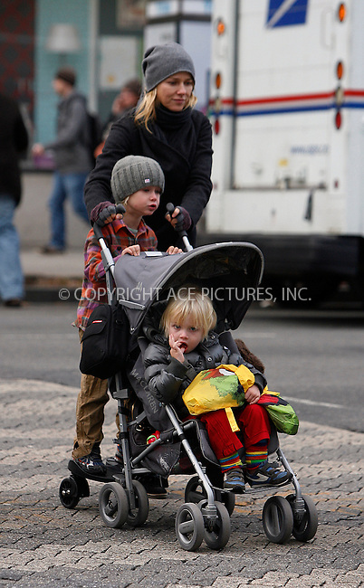 WWW.ACEPIXS.COM . . . . .  ....October 28 2011, New York City....Naomi Watts takes her children Sam and Sasha for a walk in Noho on October 28 2011 in New York City....Please byline: CURTIS MEANS - ACE PICTURES.... *** ***..Ace Pictures, Inc:  ..Philip Vaughan (212) 243-8787 or (646) 679 0430..e-mail: info@acepixs.com..web: http://www.acepixs.com