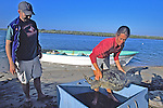 J. Nichols & Louise With Black Sea Turtle