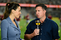 1st January 2020; Bankwest Stadium, Parramatta, New South Wales, Australia; Australian A League football, Western Sydney Wanderers versus Brisbane Roar; Robbie Fowler, coach of Brisbane Roar is interviewed before kick off by Tara Rushden  - Editorial Use