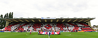 Lincoln City fans produce a display before kick off <br /> <br /> Photographer Chris Vaughan/CameraSport<br /> <br /> The EFL Sky Bet League Two - Lincoln City v Morecambe - Saturday August 12th 2017 - Sincil Bank - Lincoln<br /> <br /> World Copyright &copy; 2017 CameraSport. All rights reserved. 43 Linden Ave. Countesthorpe. Leicester. England. LE8 5PG - Tel: +44 (0) 116 277 4147 - admin@camerasport.com - www.camerasport.com