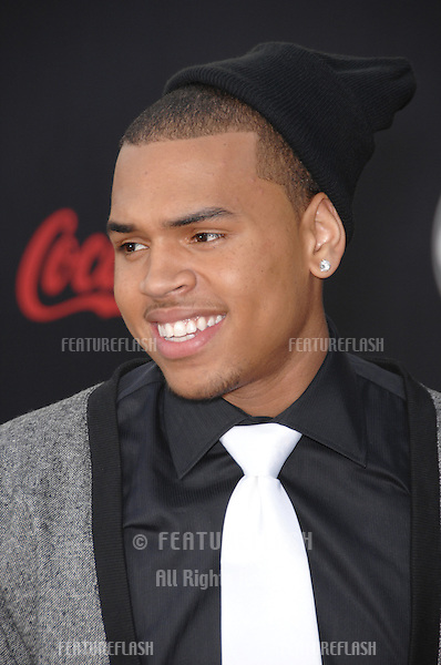 Chris Brown at the 2007 American Music Awards at the Nokia Theatre, Los Angeles..November 19, 2007  Los Angeles, CA.Picture: Paul Smith / Featureflash