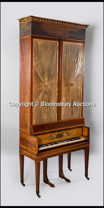 BNPS.co.uk (01202 558833)<br /> Pic: BloomsburyAuctions/BNPS<br /> <br /> An upright grand piano by Muzio Clementi estimate &pound;5,000.<br /> <br /> No strings attached - Worlds finest collection of historic piano&rsquo;s up for sale&hellip;<br /> <br /> An incredible collection of historic pianos and musical instruments that have been on display in a grand country home for four decades are expected to fetch more than half a million pounds at auction.<br /> <br /> The array of antique pianos, clavichords, harpsichords and other instruments, which span 350 years of music history, were accumulated by concert pianist Richard Burnett and stored at Finchcocks, his baroque house in idyllic Kent countryside near Tunbridge Wells.<br /> <br /> More than 70 keyboard instruments, including some of the best playing instruments in the world, are up for sale, with some expected to fetch up to &pound;70,000.<br /> <br /> The sale by Dreweatts Auctions in Newbury, Berkshire, is on May 11.