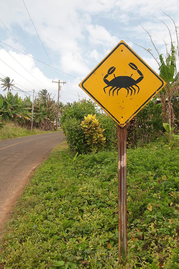 Crab Crossing sign, Big Corn Island, Nicaragua