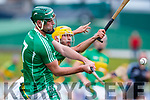 Eoin Ross Ballyduff in action against John Buckley (C) Lixnaw in the Senior County Hurling Final in Austin Stack Park on Sunday