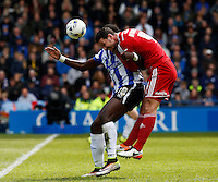 Sheffield Wednesday v Cardiff .Sky Bet Championship ....... Weds Lucas Joao loses out to cardiffs Sean Morrison