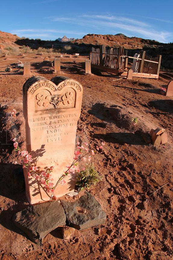 Grave, Grafton Cemetery (ghost town), Rockville, Washington County, U