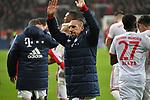 12.01.2018, BayArena, Leverkusen , GER, 1.FBL., Bayer 04 Leverkusen vs. FC Bayern M&uuml;nchen<br /> im Bild / picture shows: <br /> Franck Ribery (Bayern Muenchen #7),  freut sich &uuml;ber den Sieg und sein Tor <br /> <br /> <br /> Foto &copy; nordphoto / Meuter
