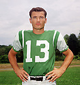 New York Jets Don Maynard (14) portrait from his 1965 season with the New York Jets. Don Maynard played for 15 season with 3 different teams. He was a 4-time Pro Bowler and  and was inducted into the Pro Football Hall of Fame in 1987.(SportPics)