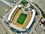 Aerial view of Heinz Field home of the Pittsburgh Steelers, Pittsburgh, Pennsylvania in July 2002