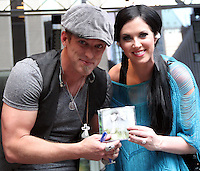 July 06, 2012 Keifier Thopmpson  Shawna Thompson, from Thompson Square   perform at  Fox and Friends All-American Concert Series in New York City.Credit:© RW/MediaPunch Inc. /*NORTEPHOTO* <br />