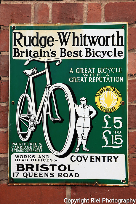 An old British bicycle poster