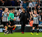 1st October 2017, St James Park, Newcastle upon Tyne, England; EPL Premier League football, Newcastle United versus Liverpool; Jurgen Klopp Manager of Liverpool takes issue with Referee Mr Craig Pawson after the 1-1 draw