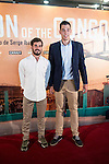 """Basketball players Tomás Bellas and Willy HernánGomez attends to the presentations of the documentary """"Son of the Congo""""at Cinema Callao City Lights in Madrid, Spain. June 22, 2015.<br />  (ALTERPHOTOS/BorjaB.Hojas)"""