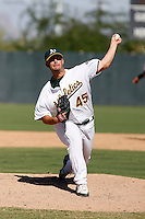 Anthony Capra - Oakland Athletics 2009 Instructional League. .Photo by:  Bill Mitchell/Four Seam Images..